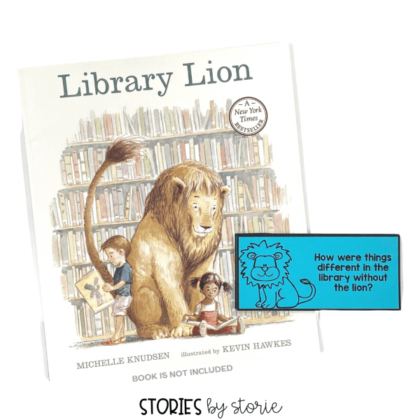 Use these 18 questions to help guide your discussion as your read Library Lion. Students can respond verbally or in writing.
