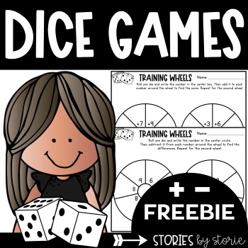 Students can practice addition and subtraction in a fun way with this free dice game. This resource includes a printable and digital option.