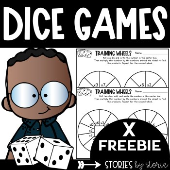Students can practice multiplication in a fun way with this free dice game. This resource includes a printable and digital option.