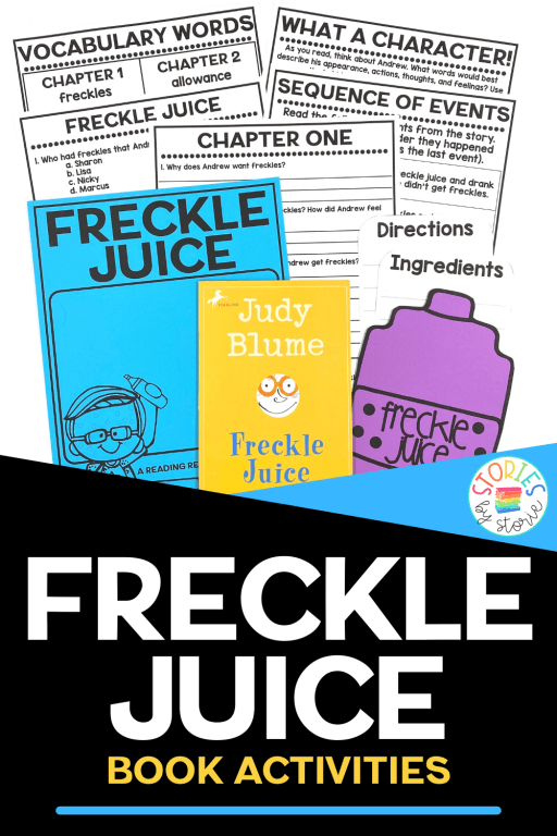 Freckle Juice continues to be a hit with students today. This book companion contains comprehension questions for each chapter, vocabulary activities, a sequencing activity, a book quiz, and graphic organizers to help guide your students through the book. You'll also find a Freckle Juice craft in which students create their own recipes.