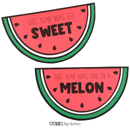 Looking for a fun way to reflect on the school year? Try this watermelon craft.