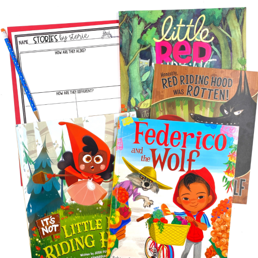Reading multiple versions of Little Red Riding Hood is a great way for students to work on comparing and contrasting. Most students are familiar with the original, which makes it easier to note the similarities and differences with the characters, setting, plot, and even the illustrations.