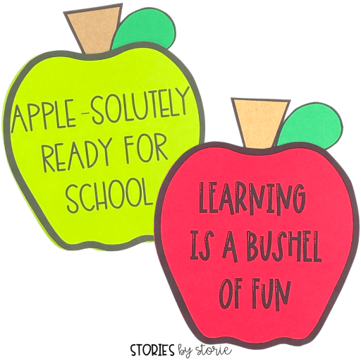 Your students can share about their hopes and dreams for the new school year with this apple writing craft.
