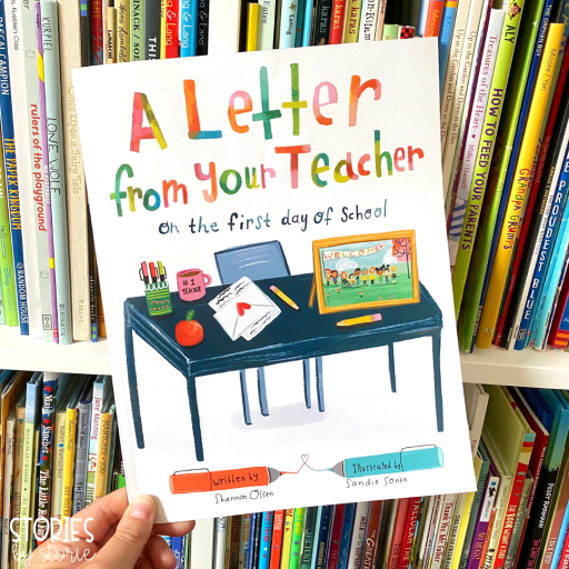 If you're looking for a great book to help set the tone for the new school year, try reading A Letter From Your Teacher on the First Day of School.