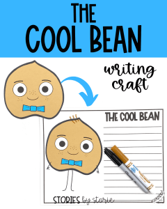 After reading The Cool Bean by Jory John and Pete Oswald, your students can bring the character to life with this writing craft. There are several prompts to choose from, but students can always choose their own.