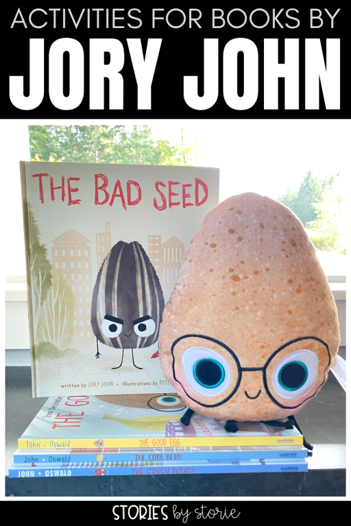 Jory John and Pete Oswald teamed up to create The Food Group series. These books  are not only entertaining for kids, but they also are a great tool for SEL and character education. I want to share activities and writing crafts you can pair with The Bad Seed, The Good Egg, The Cool Bean, and The Couch Potato.