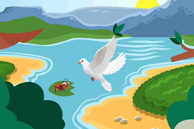 PIGEON AND AN ANT - BEST BEDTIME STORY FOR KIDS WITH MORAL