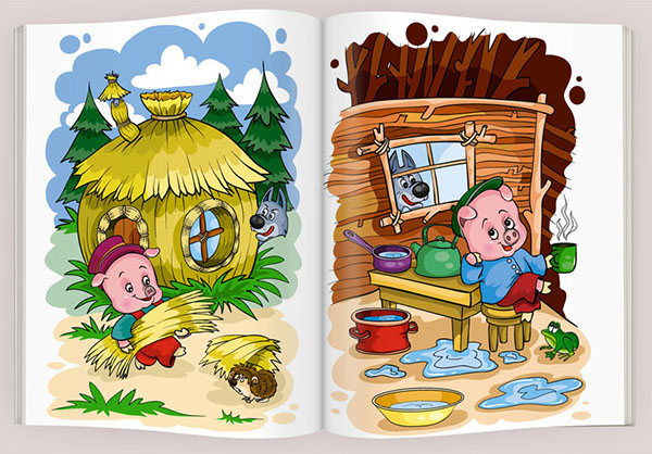 Three Little Pigs Story for Kids
