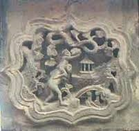 'Bei Bei Feng Hou' image on an ancient roof tile