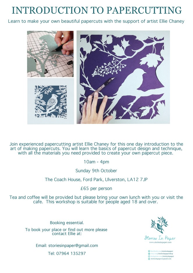 Papercutting workshop poster