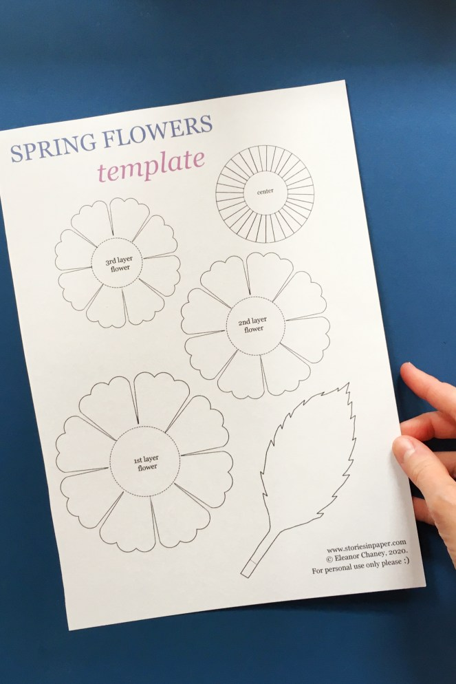 Paper flowers template.