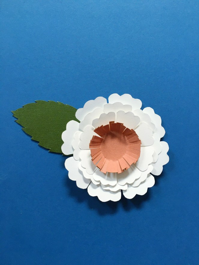 Image of a completed paper flower