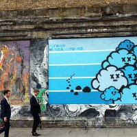 Admiring Street Art in Shoreditch