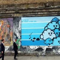 Admiring Street Art in Shoreditch