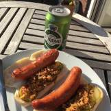 Home made hot dogs