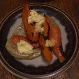 Carrots with goats cheese