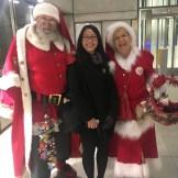 Mr and Mrs Claus at te Metro