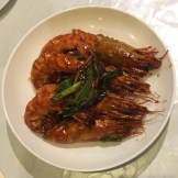 My dad made giant prawns in Cantonese sauce