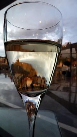 The Parthenon, through a glass of wine