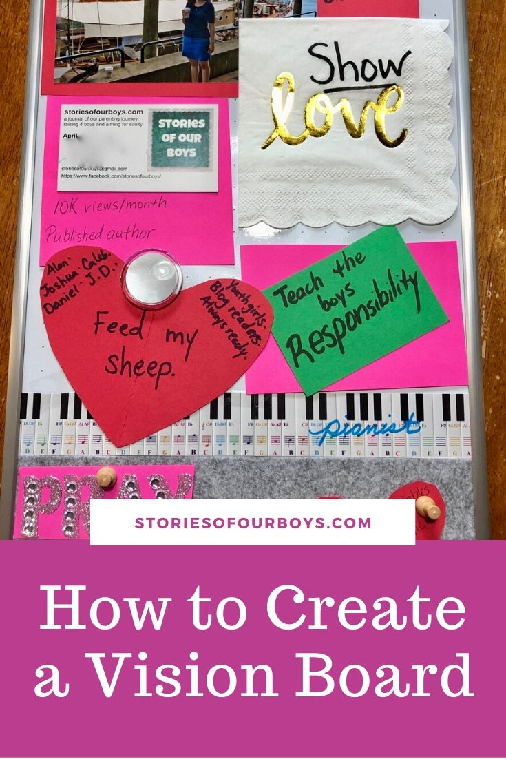 How To Create A Vision Board With Examples Stories Of Our Boys