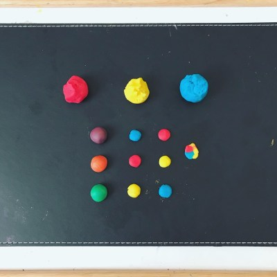 Invitation to Create New Colours with Playdough as a Medium