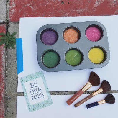 REVIEW: Invitation to Create with Rice Cereal Paints (Soundsations' Sensory Play Prompts)