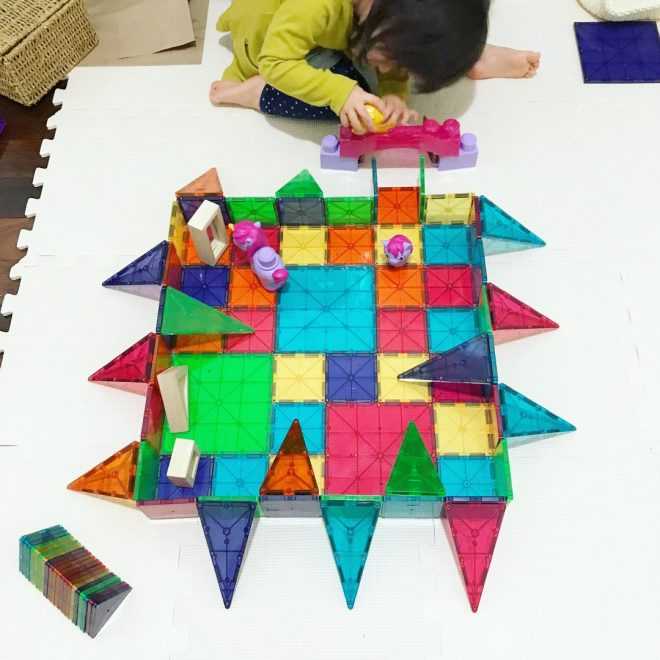 exploring design with magnetic tiles