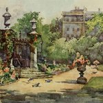 Down by the (neglected) Four Courts Gardens, 1904