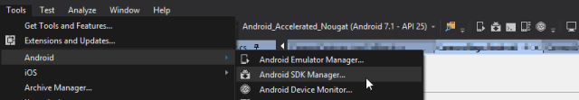 Open Android SDK Manager