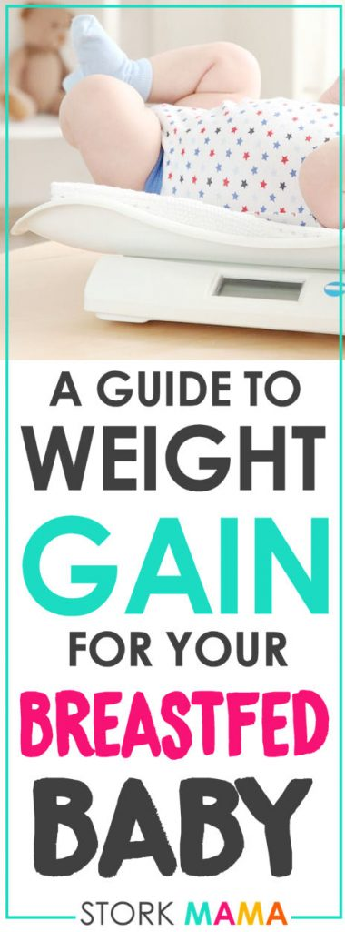 Breastfed baby weight gain | A guide for nursing moms on your breastfed baby's growth and weight. Find out what's normal and what's now for your baby. Great tips for first time moms. Stork Mama