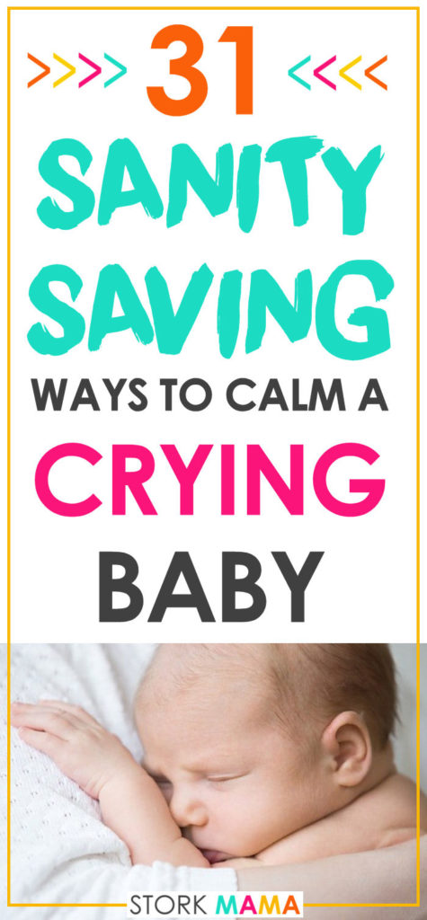 Before your baby can talk, crying is the only way they can tell you somethings wrong. That means they'll cry a lot. Constant crying can take it toll on you. Ignore old advice to let baby-cry it out and find out just how to soothe your little one. 31 Effective Methods to Calm a Crying Baby | Stork Mama