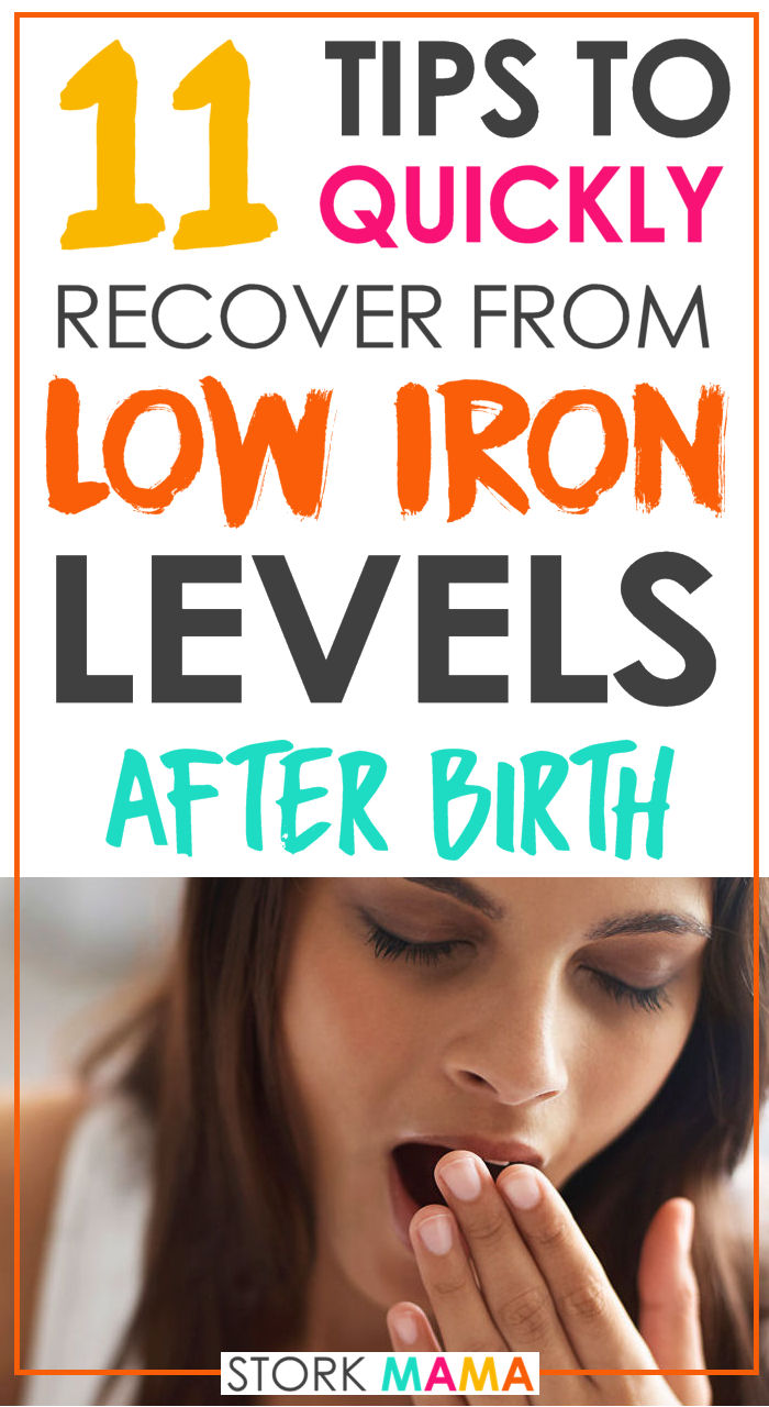 Iron deficiency anemia is common after birth. Large blood loss is the cause of low iron levels. Symptoms such a fatigue, low mood and breathlessness can make postpartum recovery hard. Check out just how to increase your iron levels quickly and feel much better. 11 Ways to Cope with Postpartum Anemia | Stork Mama