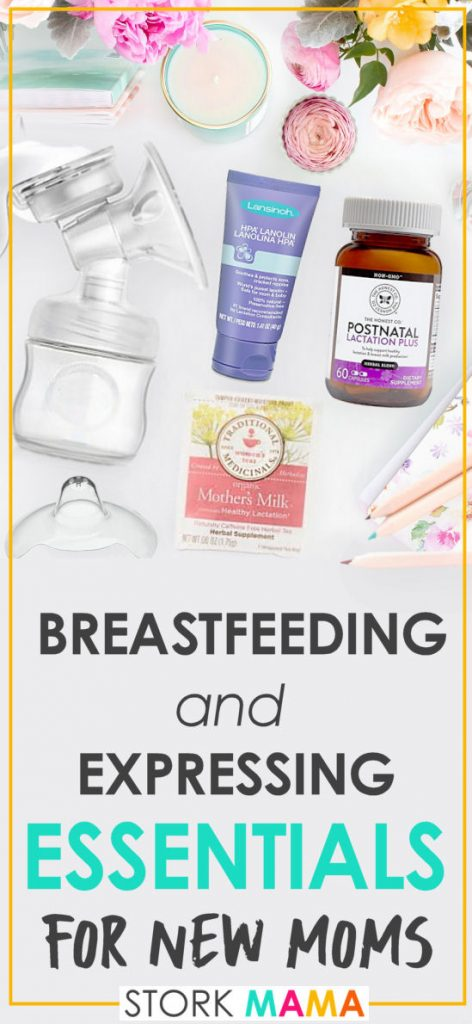 Breastfeeding and Pumping Essentials for New Moms | Are you a first time mom panning to breastfeed? Check out these essentials to make breastfeeding your new baby so much easier. Stork Mama