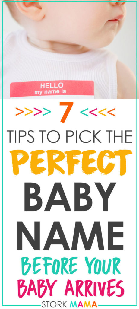 How to Pick a Baby Name When You're Pregnant