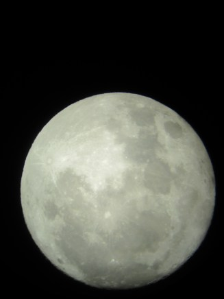 Photo of this year's supermoon from a telescope