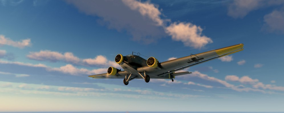 The Ju52 3m transport brings something new and different to a combat simulator. Flying cargo, dropping supplies and troops, and avoiding enemies can be fun too!