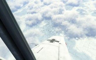 Flying a high patrol above Velikie Lukie