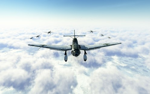 You're responsible for keeping the skies clear for these Stukas