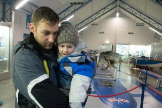 A visit to the Bluebird Museum for Daddy