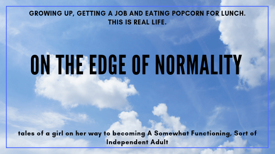 blue sky. title image: on the edge of normality