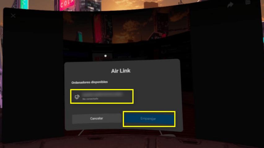 Activar AirLink Emparejar