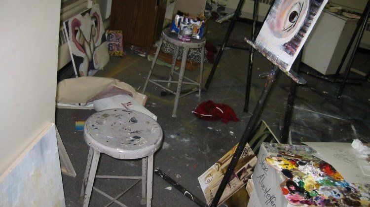 A painting studio at Virginia Tech, circa 2002