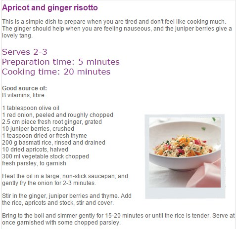 Apricot-and-ginger-risotto recipe