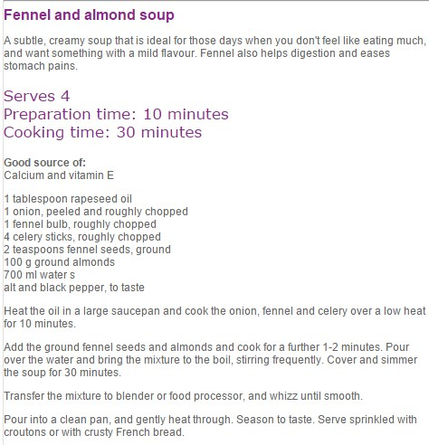 Fennel-and-almond-soup recipe