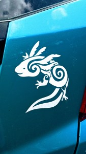 vinyl decal applied to car