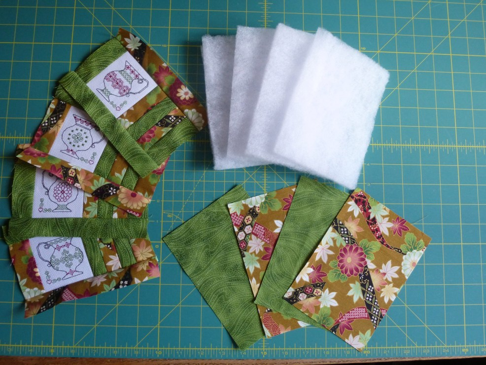cut backing & quilting