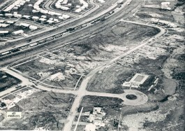 Extreme damage to the east of the Toledo-Detroit Expressway (upper left).