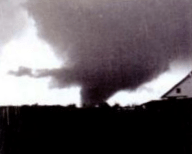 Another photo of the Cambria tornado as it approached Moran.