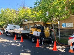 Maintenance of stormwater detention tanks