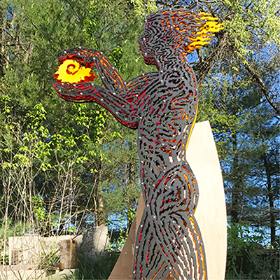 Promethean Figure Maquette, artist Dale Enochs